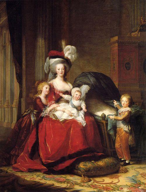Mária Antoinetta s deťmi.