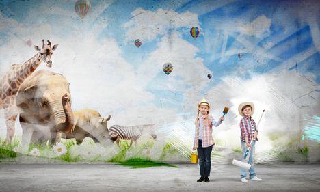 Maľba Na Stenu V Detskej Izbe Doma Doma Rodinka Sk