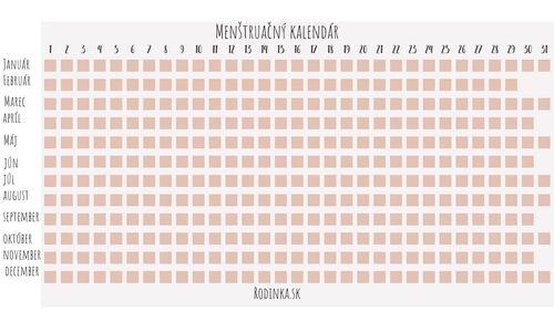 Menstruacny kalendar