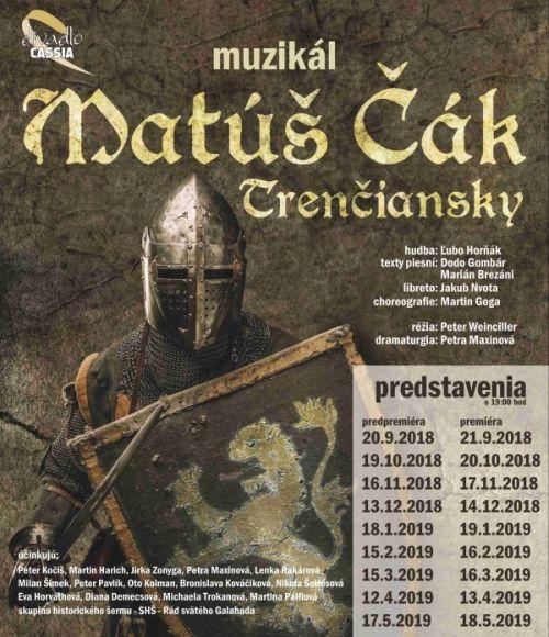 Víťaz X-Faktoru v hlavnej úlohe nového muzikálu Matúš Čák Trenčiansky