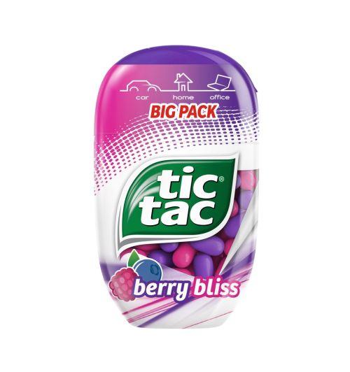 Šťavnatá chuť lesného ovocia vnovom  Tic Tac Berry Bliss