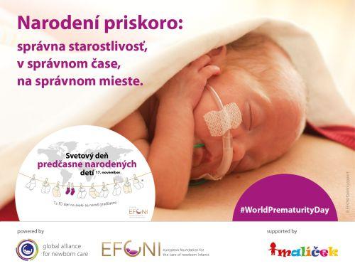 17. novembra si celý svet pripomenie predčasne narodené deti