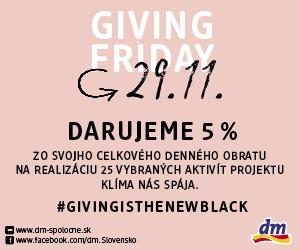 Zapojte sa do boja proti klimatickým zmenám nákupom v predajniach dm počas Giving Friday