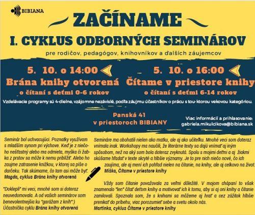Vzdelávacie semináre pre všetkých, ktorí radi čítajú deťom