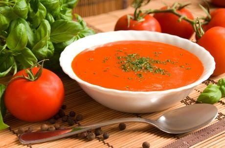 Paradajková polievka, rajčinová polievka bez múky