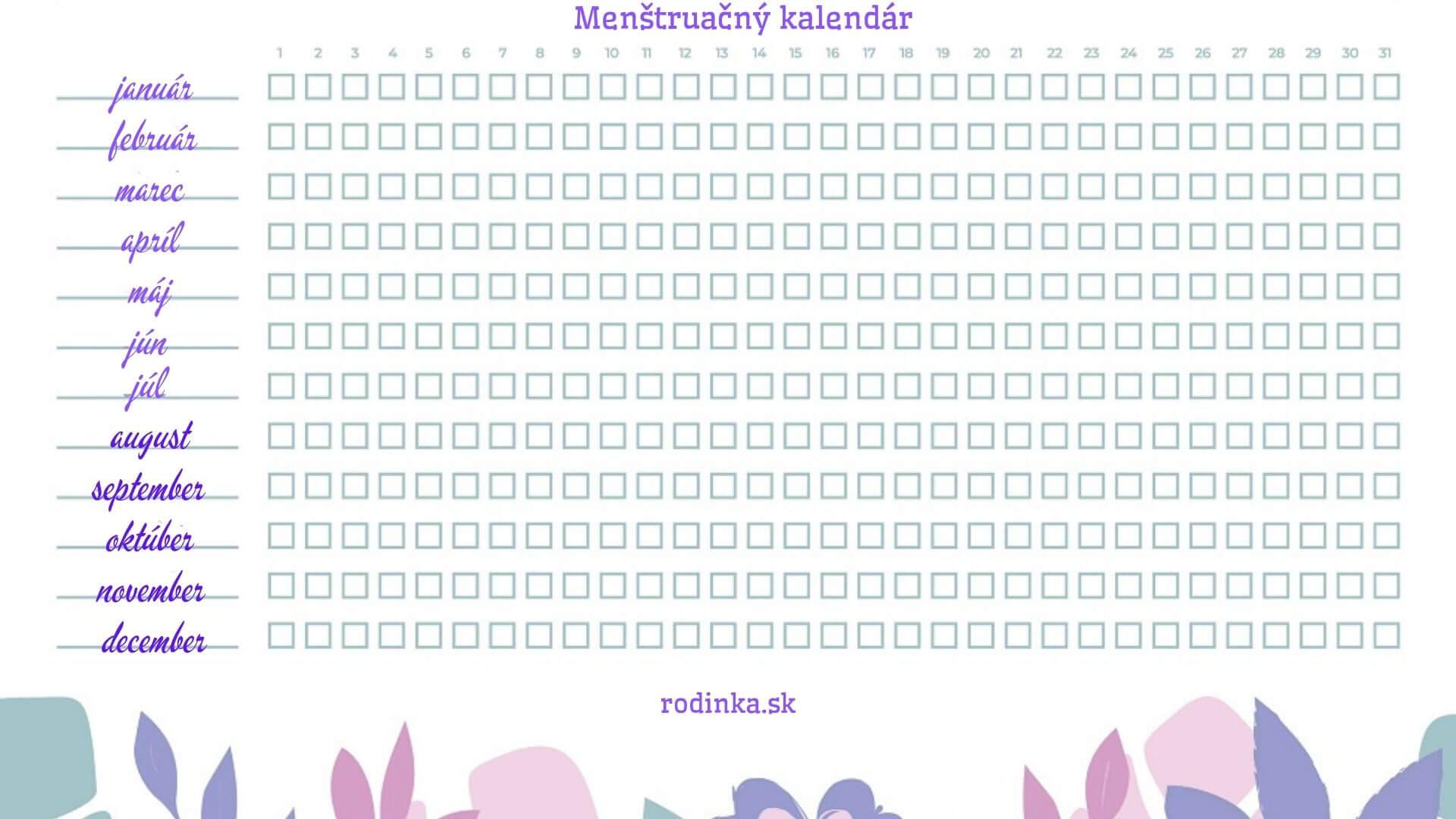Menštruačný kalendár a aplikácie na sledovanie cyklu