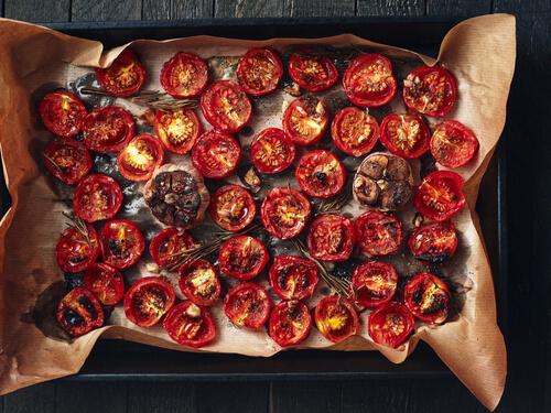 Pecené paradajky recept