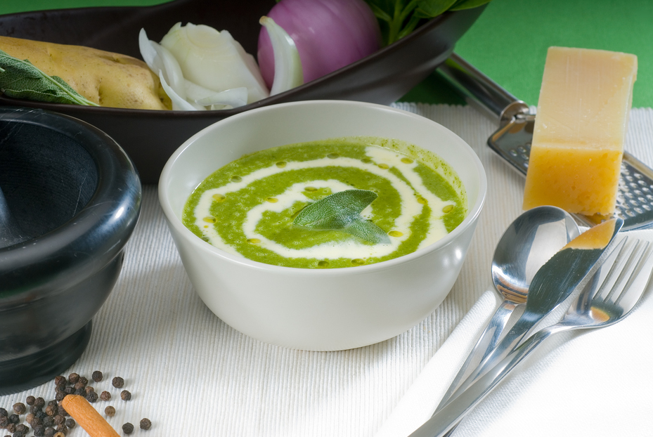 Špenátová krémová polievka