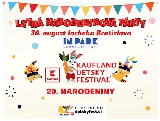 Posledná prázdninová nedeľa bude patriť deťom. Vbratislavskom InParku zaspieva aj Kali, Spievankovo či Paci Pac.