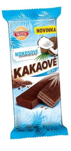 Nové kakaové rezy kokosové
