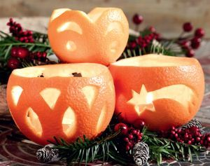 Prírodné vianočné ozdoby - svietiaci pomaranč