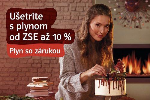 Získajte darčeky v hodnote 120 € k plynu od ZSE